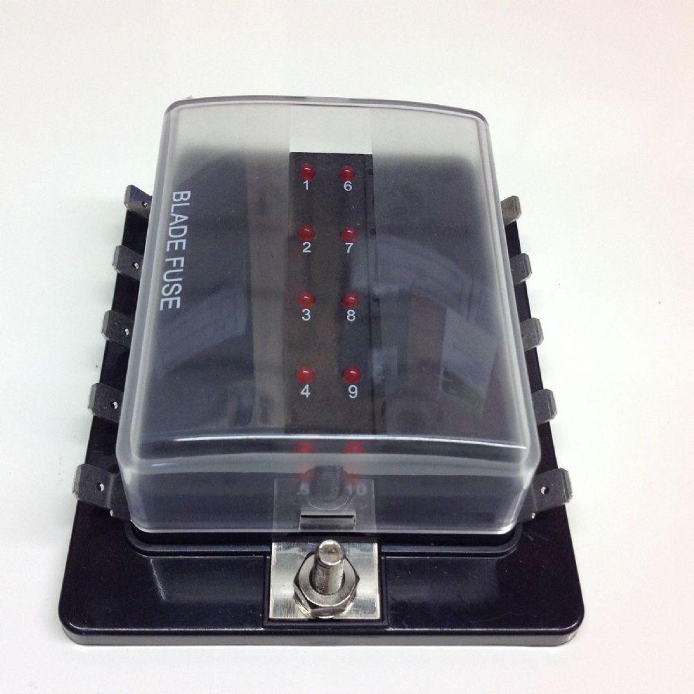 10 Way Blade Fuse Box With Led Fuse Failure Indicator Fbb10l